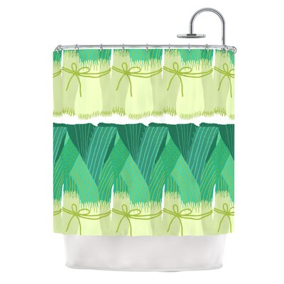 Leeks Shower Curtain