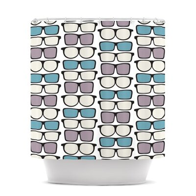 Spectacles Geek Chic Shower Curtain