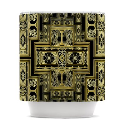 Golden Art Deco Shower Curtain Color: Gold and Black