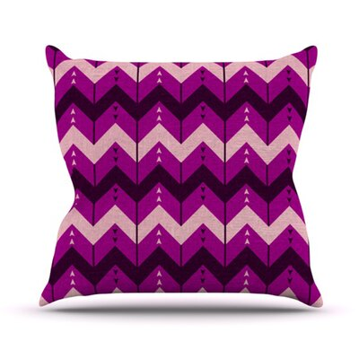 Chevron Dance Throw Pillow Size: 16 H x 16 W, Color: Purple