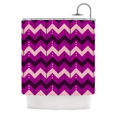 Chevron Dance Shower Curtain Color: Purple