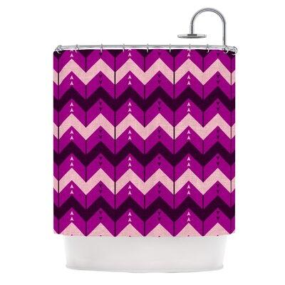 Chevron Dance Shower Curtain Color: Purple