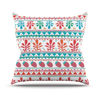 Spring Strawberries by Nika Martinez Throw Pillow Size: 18 H x 18 W x 3 D