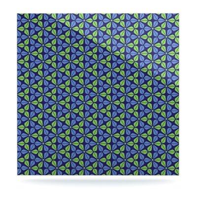 "Kess InHouse Infinite Flowers by Nick Atkinson Graphic Art Plaque - Size: 8"" H x 8"" W, Color: Blue"