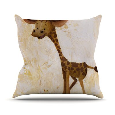 Georgey The Giraffe Throw Pillow Size: 18 H x 18 W