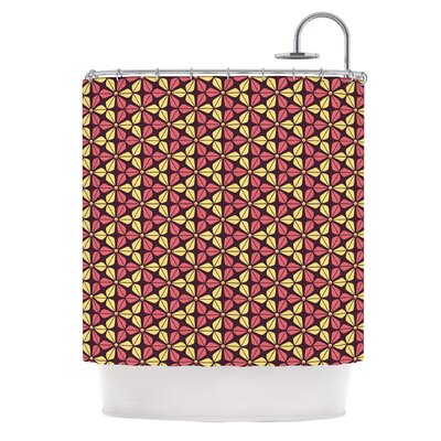 Infinite Flowers Shower Curtain Color: Red
