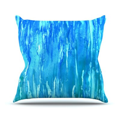 Wet & Wild Throw Pillow Size: 18 H x 18 W