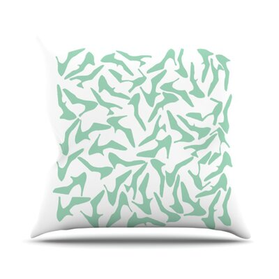 Shoe Throw Pillow Color: Mint, Size: 26 H x 26 W