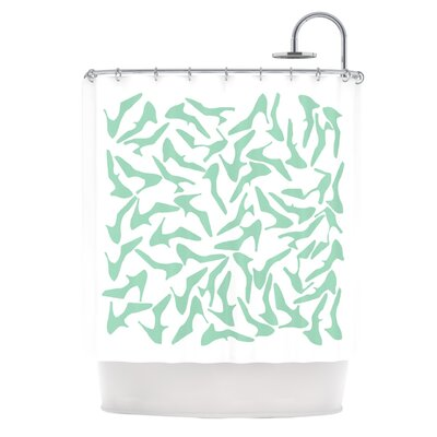 Shoe Shower Curtain Color: Mint