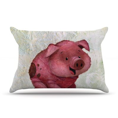 This Little Piggy Pillow Case Size: King