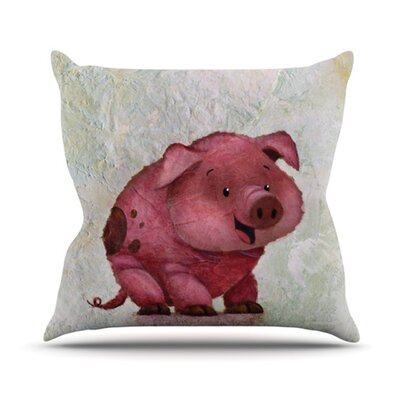 This Little Piggy Throw Pillow Size: 16 H x 16 W