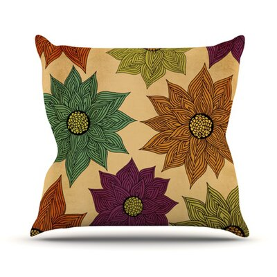 Color Me Floral Throw Pillow Size: 18 H x 18 W