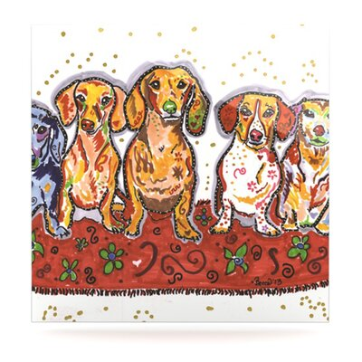 Maksim Murray Enzo Ruby & Willy by Rebecca Fischer Painting Print Plaque Size: 10