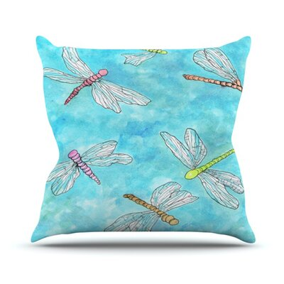 Dragonfly Throw Pillow Size: 18 H x 18 W
