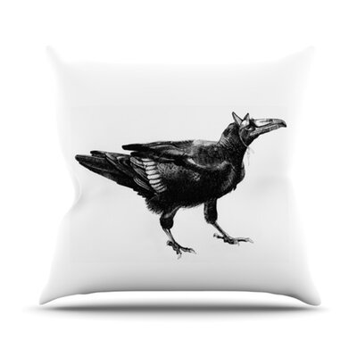 Raven Throw Pillow Size: 26 H x 26 W