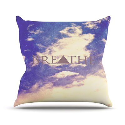 Breathe Throw Pillow Size: 18 H x 18 W