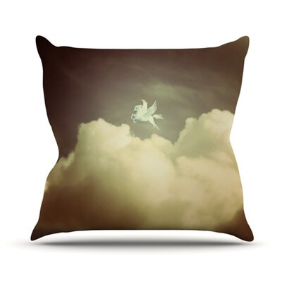 Pegasus Throw Pillow Size: 20 H x 20 W