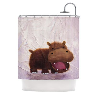The Happy Hippo Shower Curtain