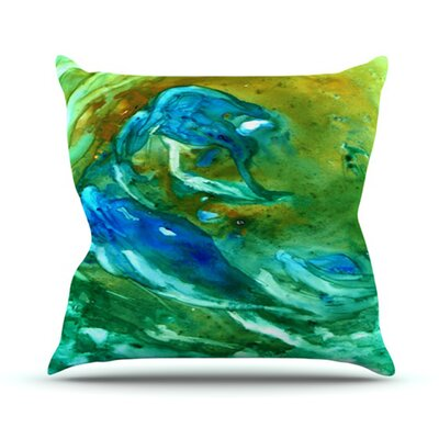 Hurricane Throw Pillow Size: 18 H x 18 W