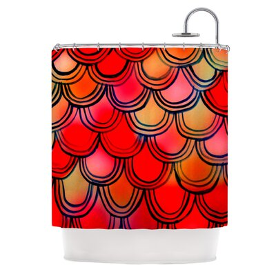 Shower Curtain Color: Dragon Tail