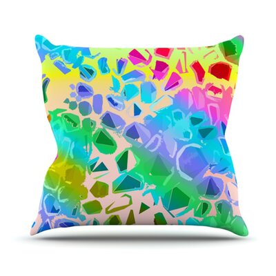 Jungle Talk Throw Pillow Size: 18 H x 18 W