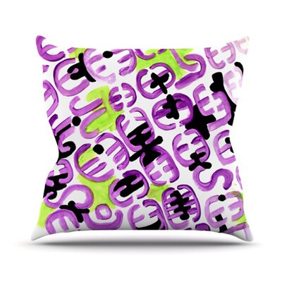 Throw Pillow Size: 26 H x 26 W, Color: Theodoras Mood
