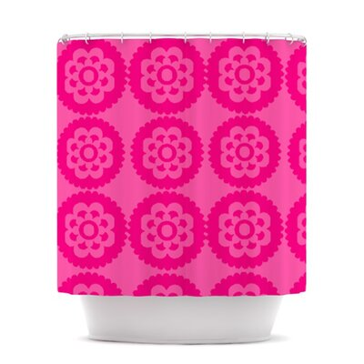 Moroccan Shower Curtain Color: Hot Pink