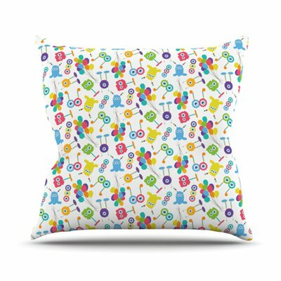 Fun Creatures Throw Pillow Size: 18 H x 18 W