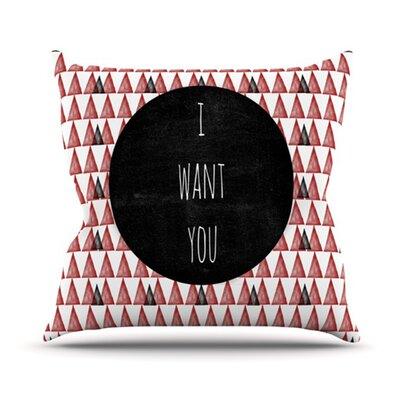 I Want You Throw Pillow Size: 18 H x 18 W