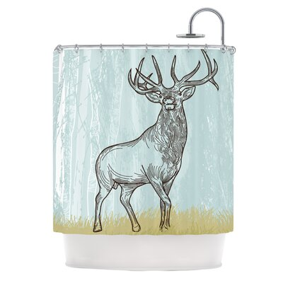 Elk Scene Shower Curtain