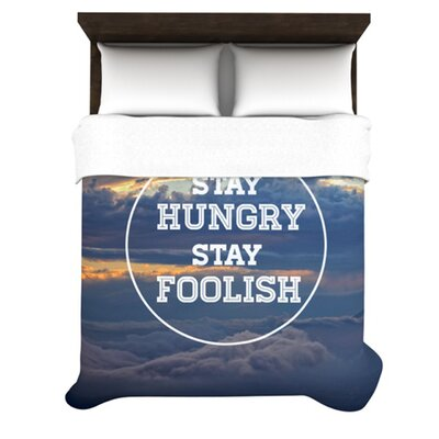 Stay Hungry Woven Comforter Duvet Cover Size: Twin