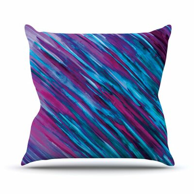 Throw Pillow Size: 18 H x 18 W, Color: Purple