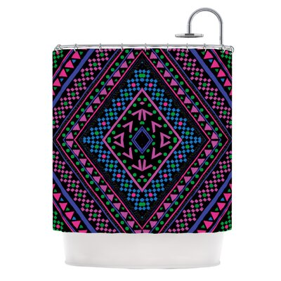 Neon Pattern Shower Curtain