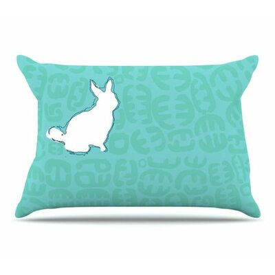 Oliver Pillowcase Size: King, Color: Teal