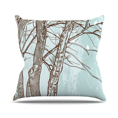 Winter Trees Throw Pillow Size: 18 H x 18 W