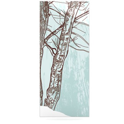 Furniture-KESS InHouse Winter Trees by Sam Posnick Graphic Art Plaque