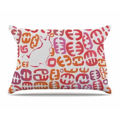 Oliver Pillowcase Size: Standard, Color: Orange