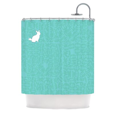 Oliver Shower Curtain Color: Teal