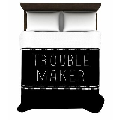 Trouble Maker Woven Comforter Duvet Cover Size: King