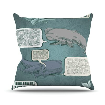 Whale Talk Throw Pillow Size: 26 H x 26 W