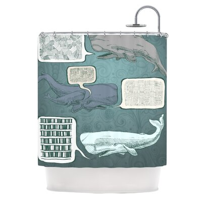 Whale Talk Shower Curtain