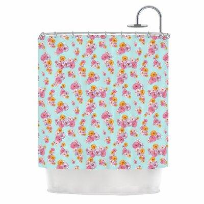 Paper Flower Shower Curtain
