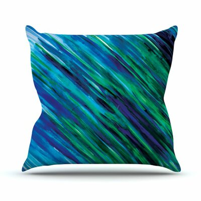 Throw Pillow Color: Blue, Size: 26 H x 26 W