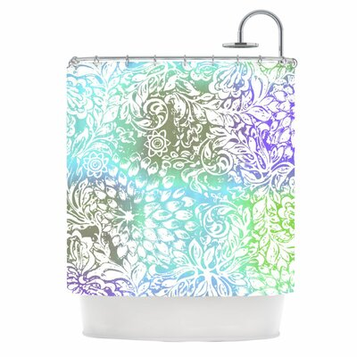 Blue Bloom Softly for You Shower Curtain