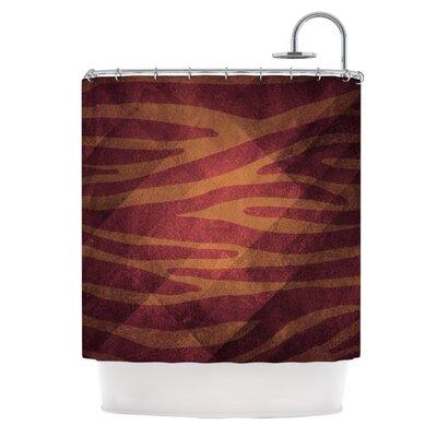 Kess InHouse Zebra Texture Polyester Shower Curtain - Color: Pink