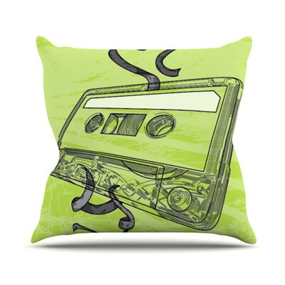 Mixtape Throw Pillow Size: 18 H x 18 W