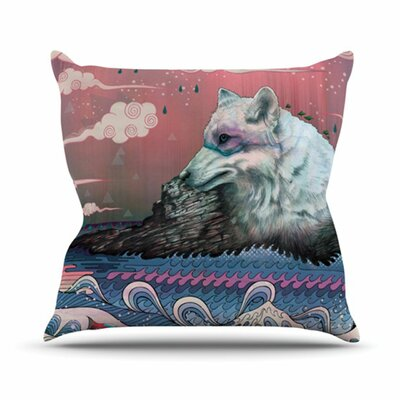 Lone Wolf Throw Pillow Size: 26 H x 26 W