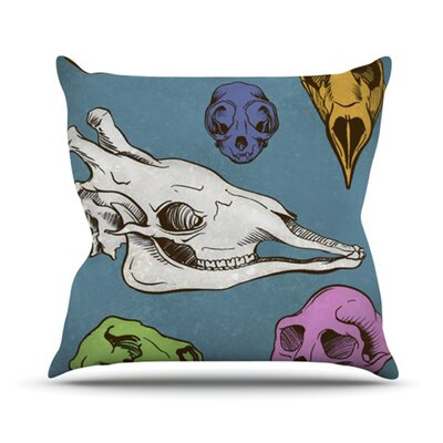 Skulls Throw Pillow Size: 18 H x 18 W
