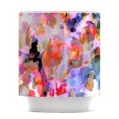 Painterly Blush Shower Curtain