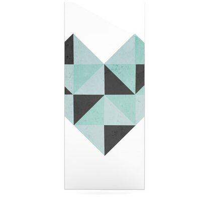Kess InHouse Geo Heart by Skye Zambrana Graphic Art Plaque - Color: Blue